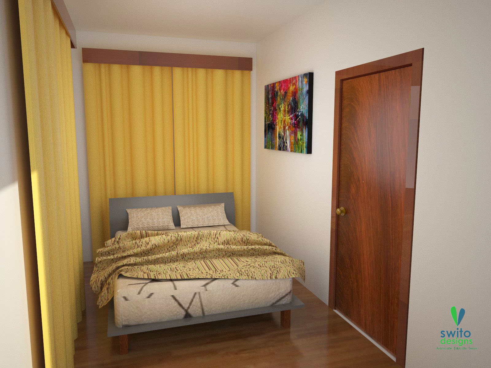 interior designing of bedroom 2. Woodsy with a lot of Bamboo Accents is our signature interior design look  for small houses like this HOUSES Swito Designs Inc Architecture and Interior Design Company